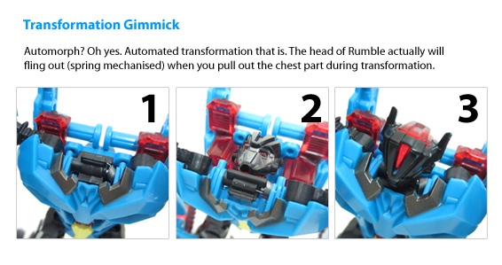 Transformers Prime Rumble: transformation gimmicks